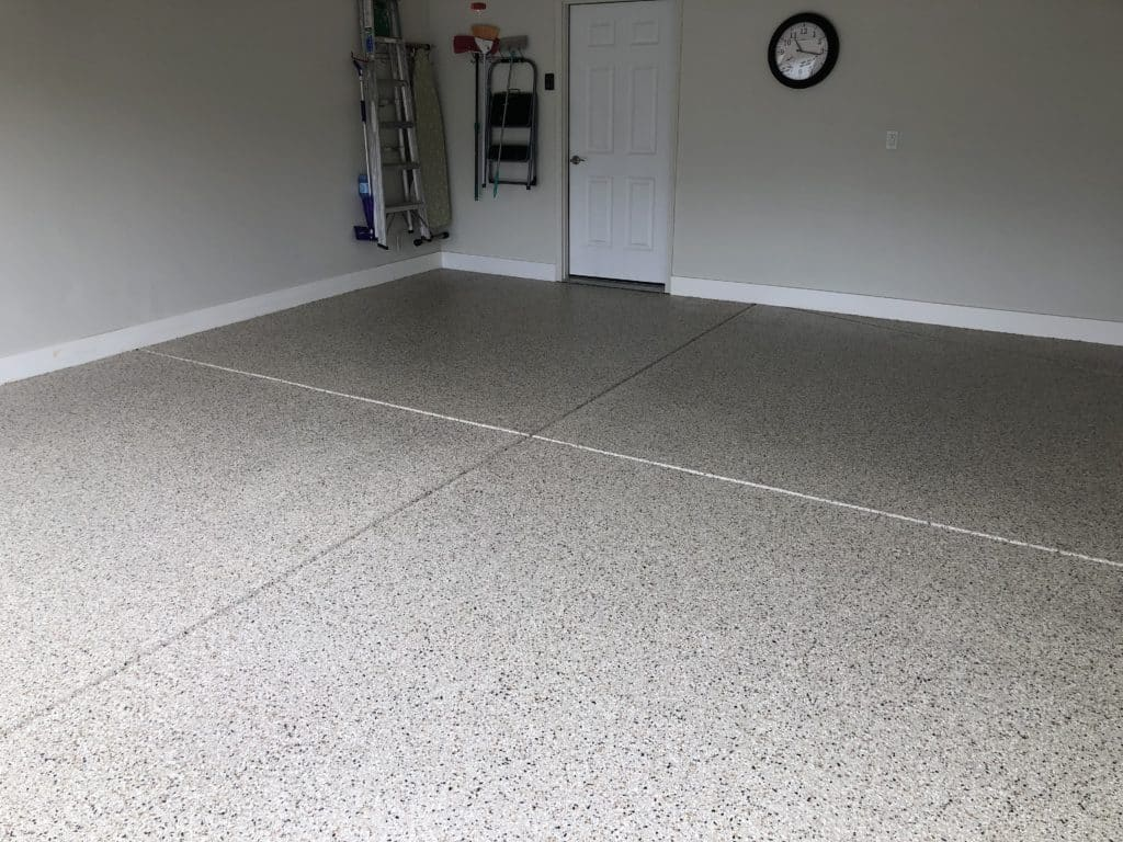 garage floor coating after