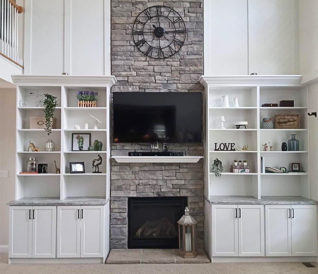 Org Options Fireplace Built Ins